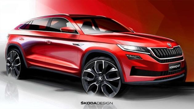 斯柯达首款轿跑SUV  柯迪亚克GT草图发布