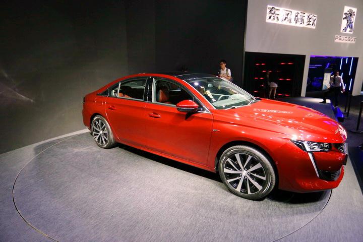 法系颜值担当—广州车展实拍标致508L