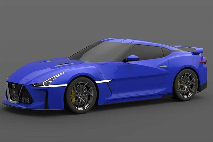 造型激进搭混动系统 下一代日产GT-R渲染图曝光