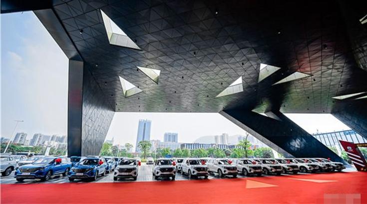 全球最大规模刷脸启动!荣威RX5 MAX上市1个月订单达2万,百城千店同时交车