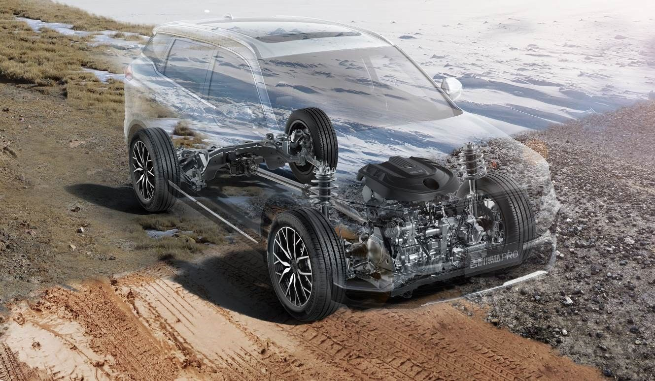 搭载4WD+BSG好开省油新科技  博越PRO四驱版配置曝光