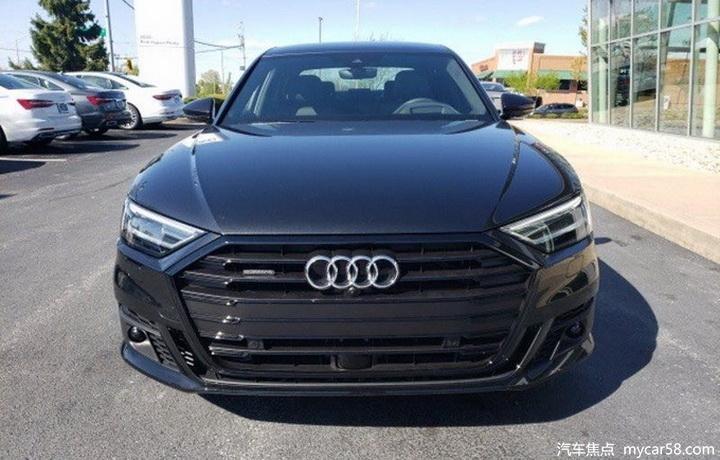 新款奥迪A8L曝光,黑化造型,7月开卖