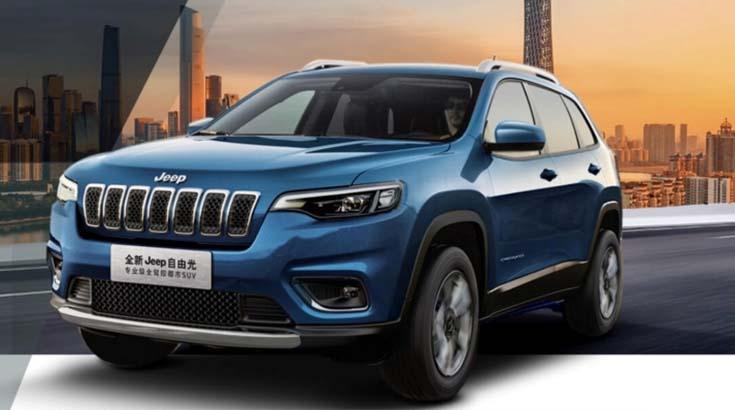 新款jeep自由光正式上市,配置有所提升,带枪灰色17寸轮毂