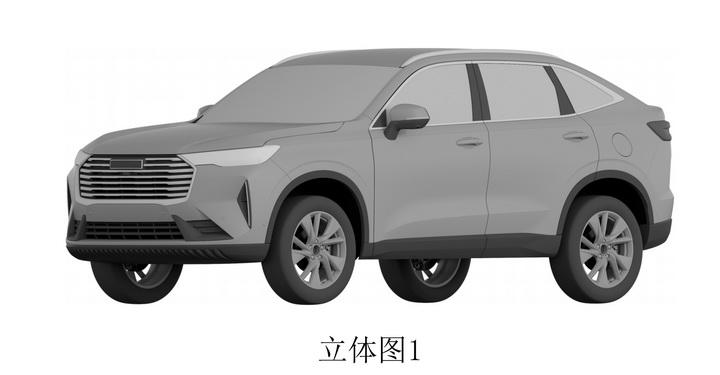 哈弗H6x专利图曝光,轿跑SUV结构,预计搭H6同款动力系统