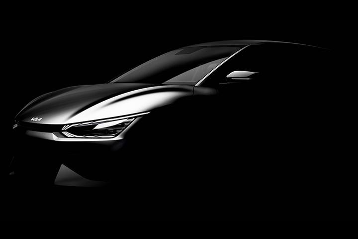 起亚全新EV6预告图发布,跨界SUV造型,5.2s破百