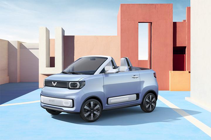 将于上海车展亮相,五菱宏光MINI EV敞篷版官图发布!