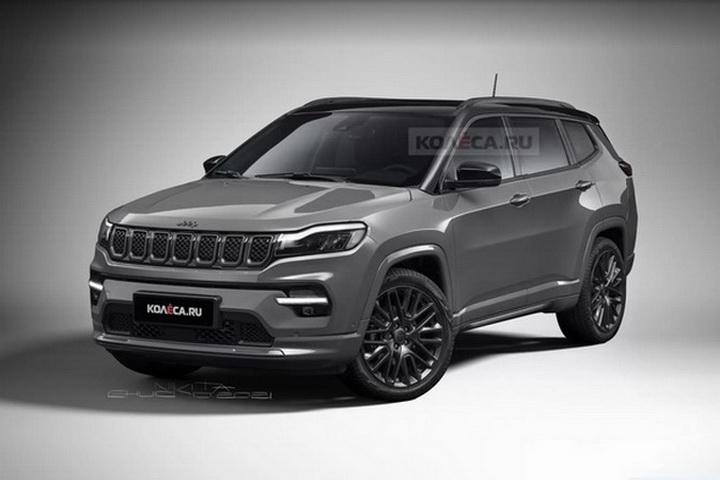 Jeep全新七座SUV渲染图曝光,有望年内发布